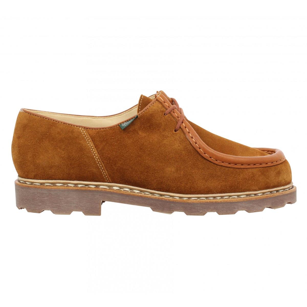 35cc0eec9e6c Chaussures à lacets PARABOOT Michael velours Homme Cognac. 1