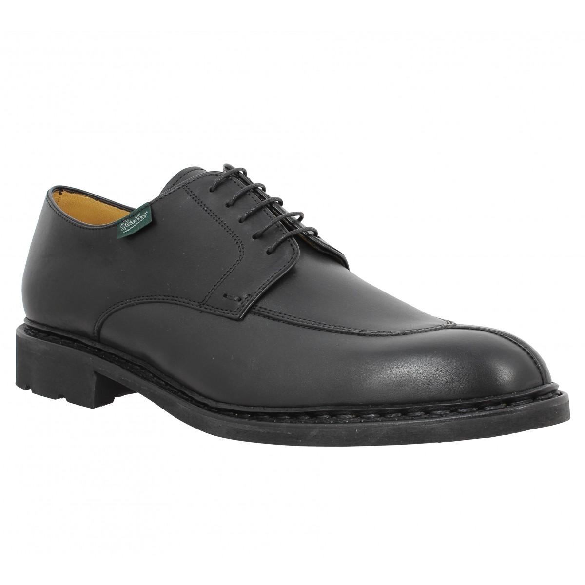 soldes paraboot tournier cuir noir homme fanny chaussures. Black Bedroom Furniture Sets. Home Design Ideas
