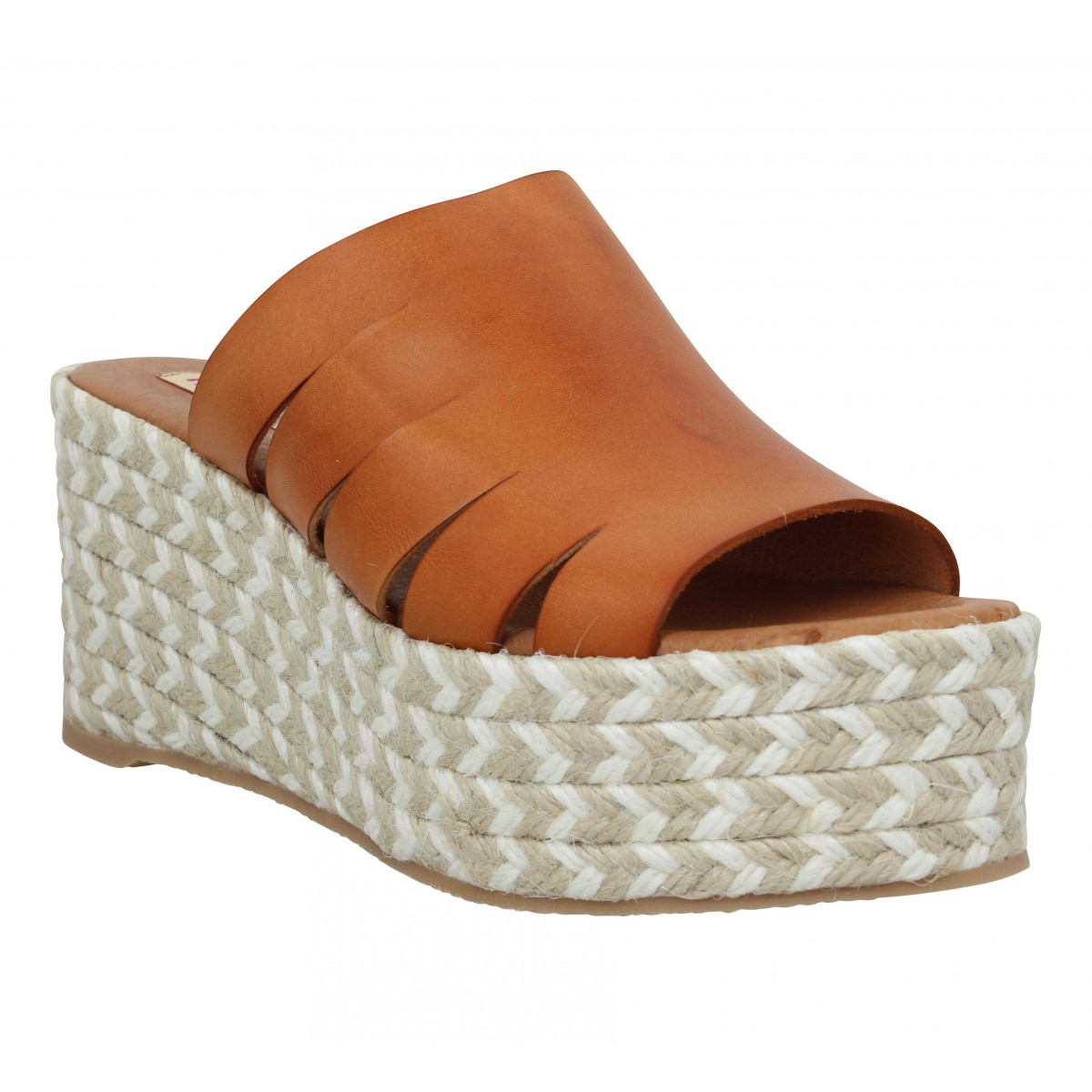 Sandales talons PARE GABIA Maduna cuir Femme Camel