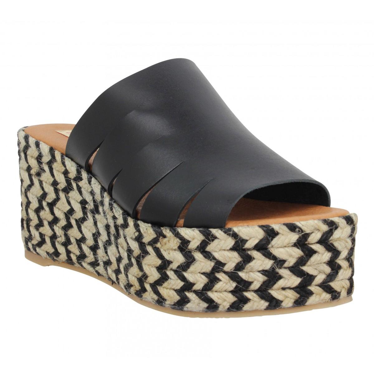 Sandales talons PARE GABIA Maduna cuir Femme Noir
