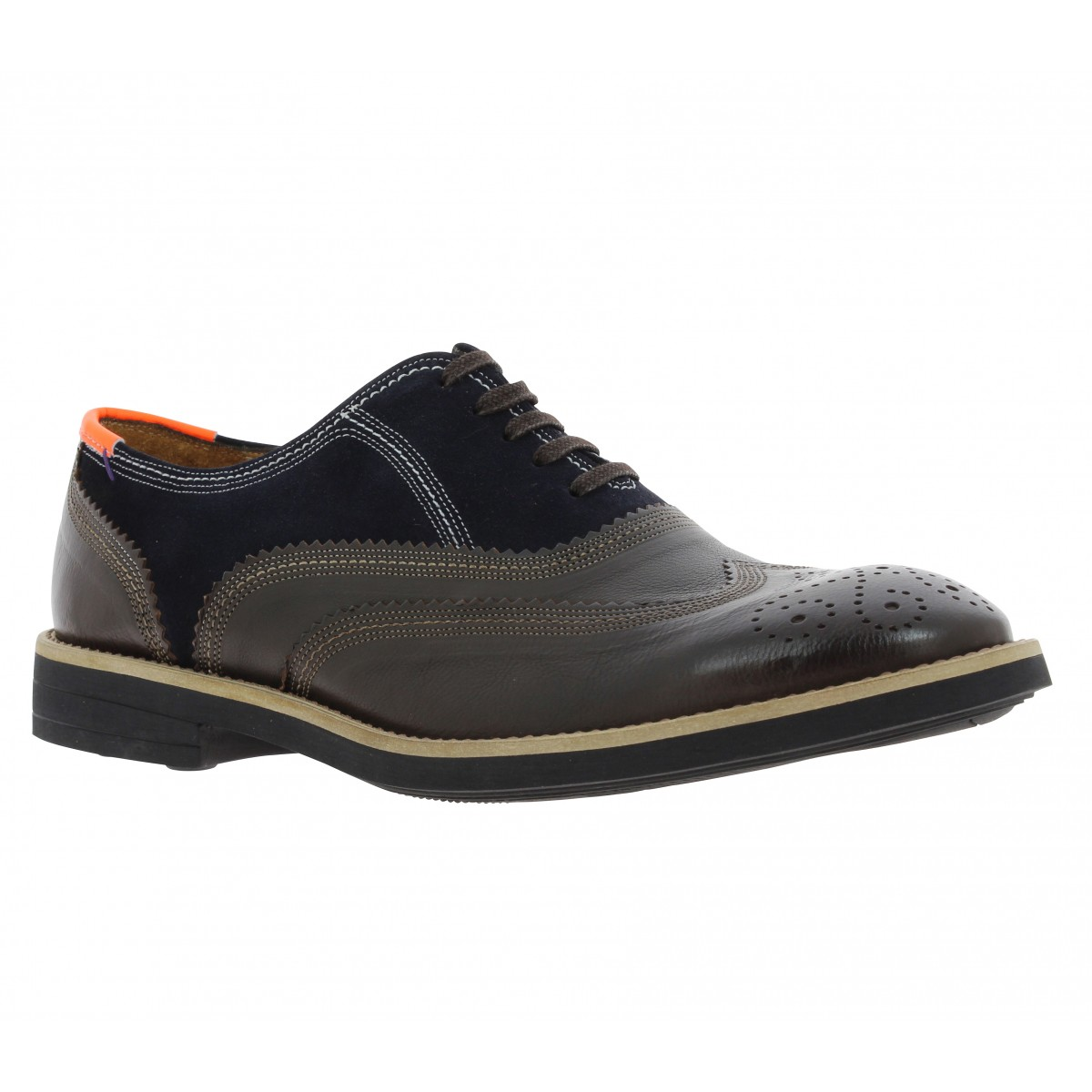 Chaussures à lacets PAUL SMITH Baer cuir Homme Marron