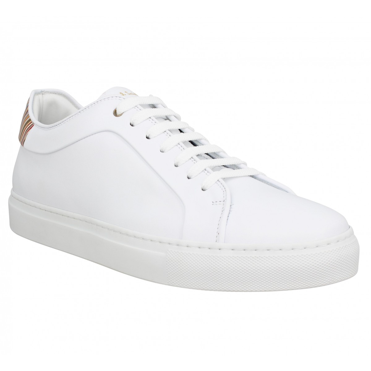 Baskets PAUL SMITH Basso cuir Homme Blanc