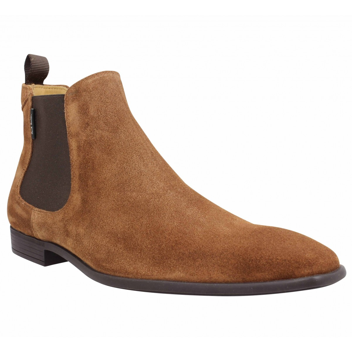 Bottines PAUL SMITH Falconer suede Homme Tan