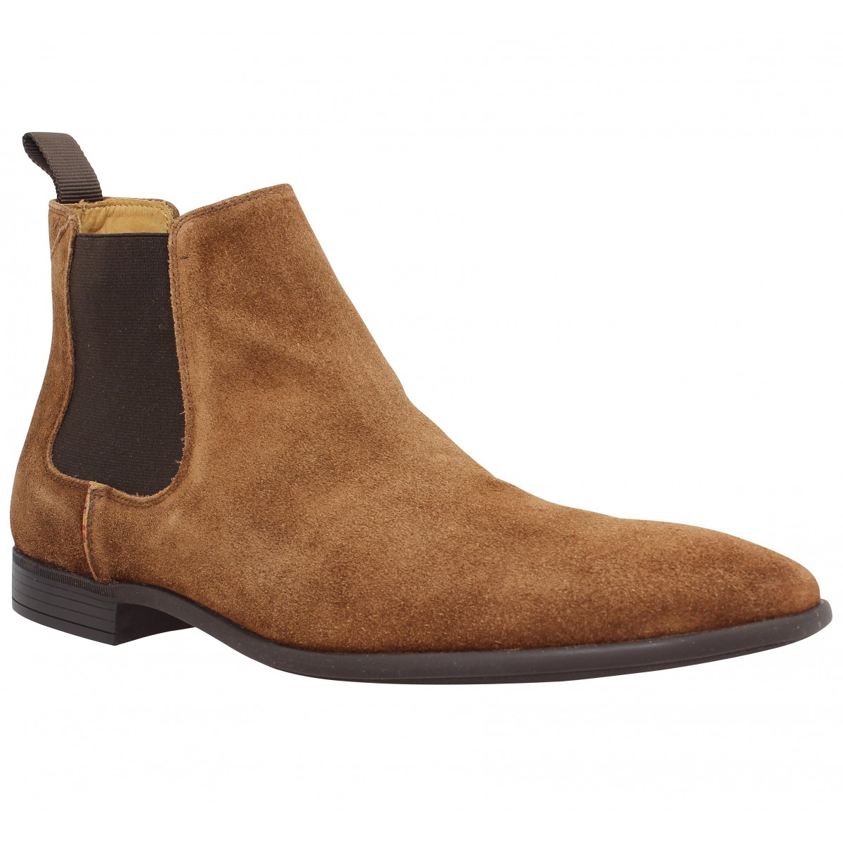 Bottines PAUL SMITH Falconer velours Homme Tan