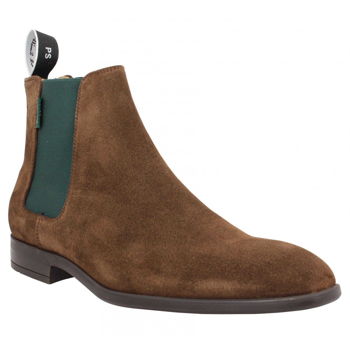 Bottines PAUL SMITH Gerald velours Homme Chocolat
