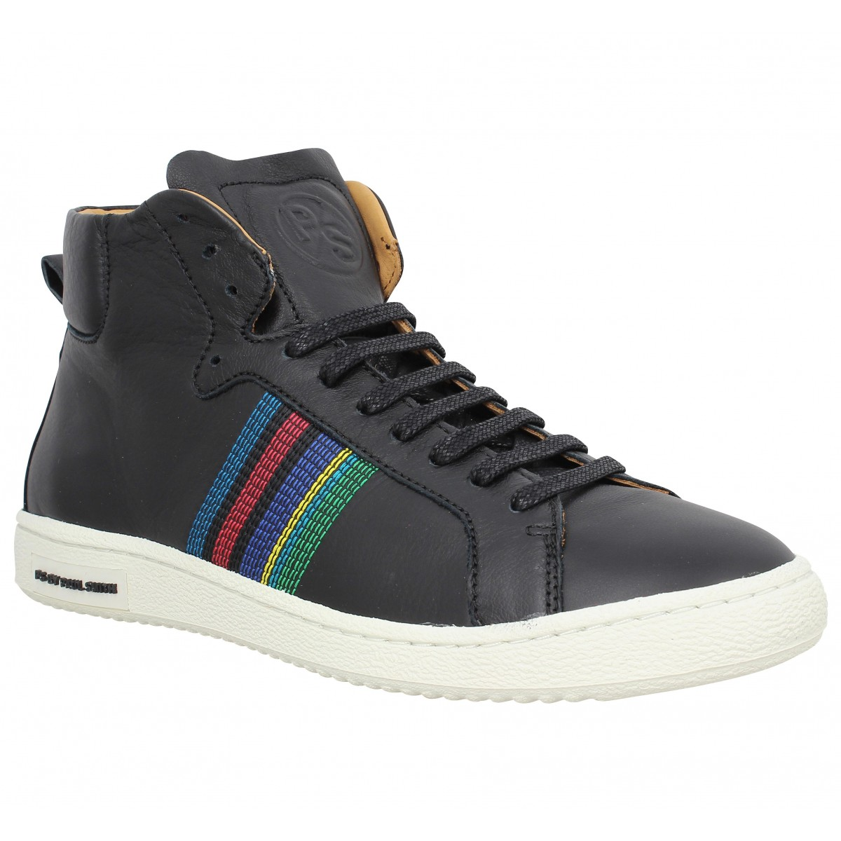 Baskets PAUL SMITH Kim cuir Homme Noir