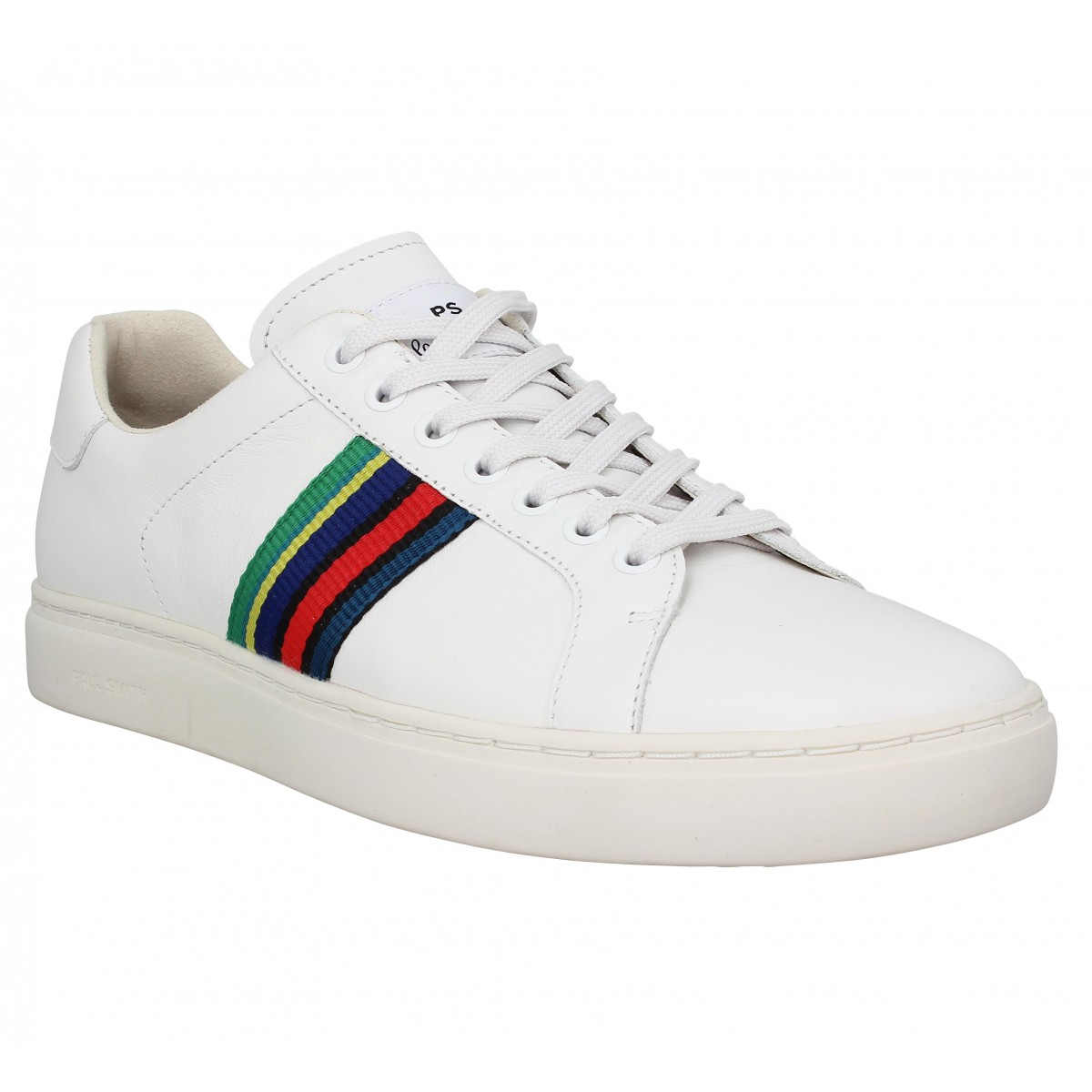 Baskets PAUL SMITH Lapin cuir Homme Blanc