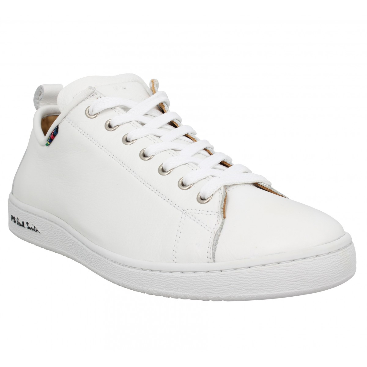 Baskets PAUL SMITH Miyata cuir Homme White