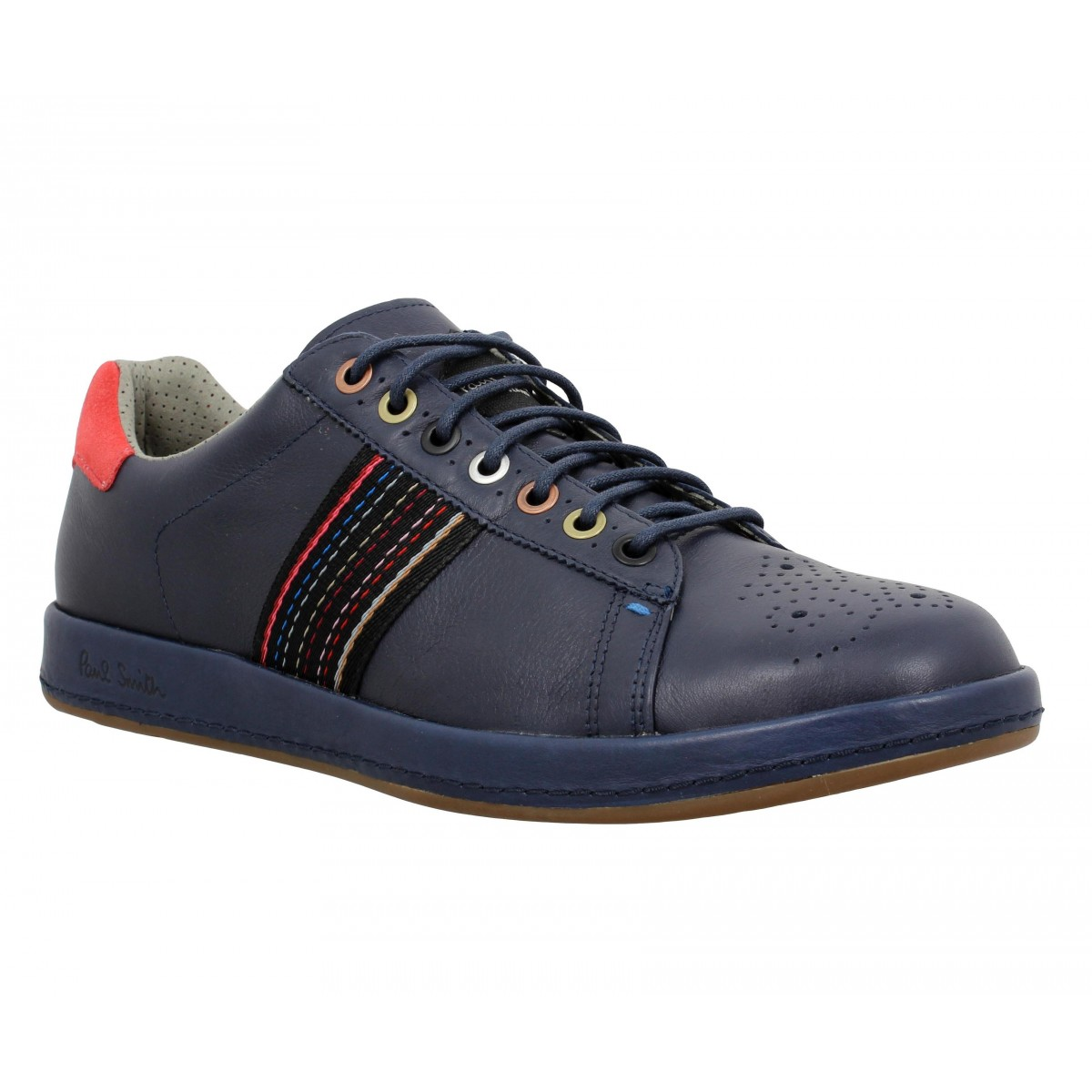 Baskets PAUL SMITH Rabbit cuir Homme Marine