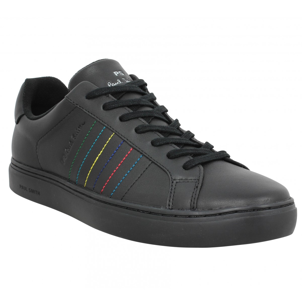 Baskets PAUL SMITH Rex cuir Homme Black