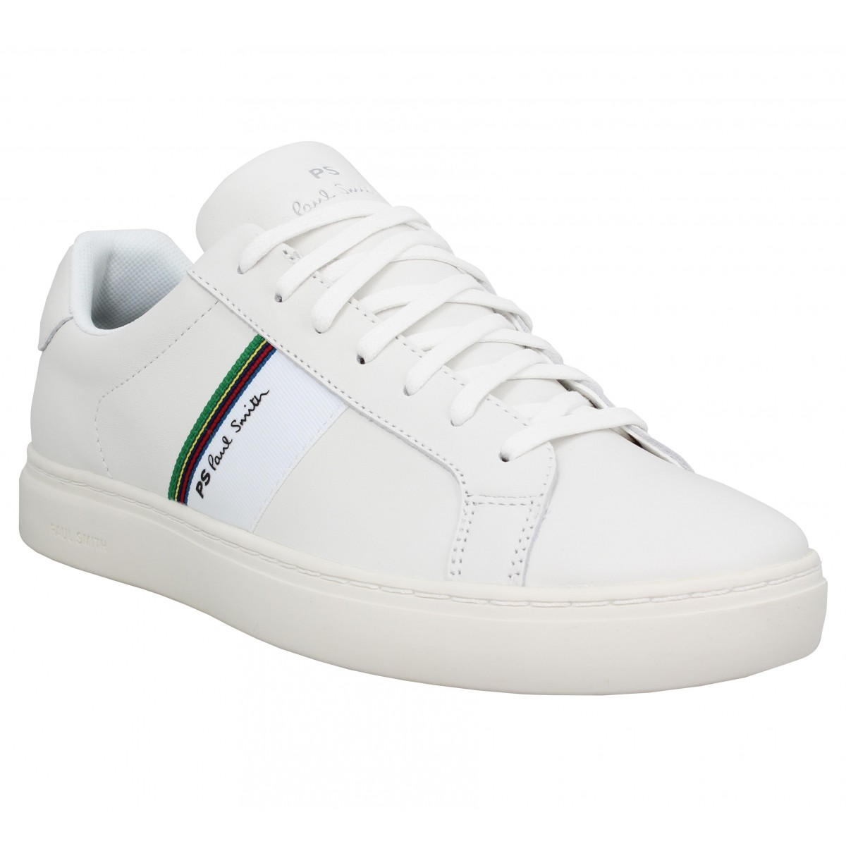 Baskets PAUL SMITH Rex cuir Homme Blanc