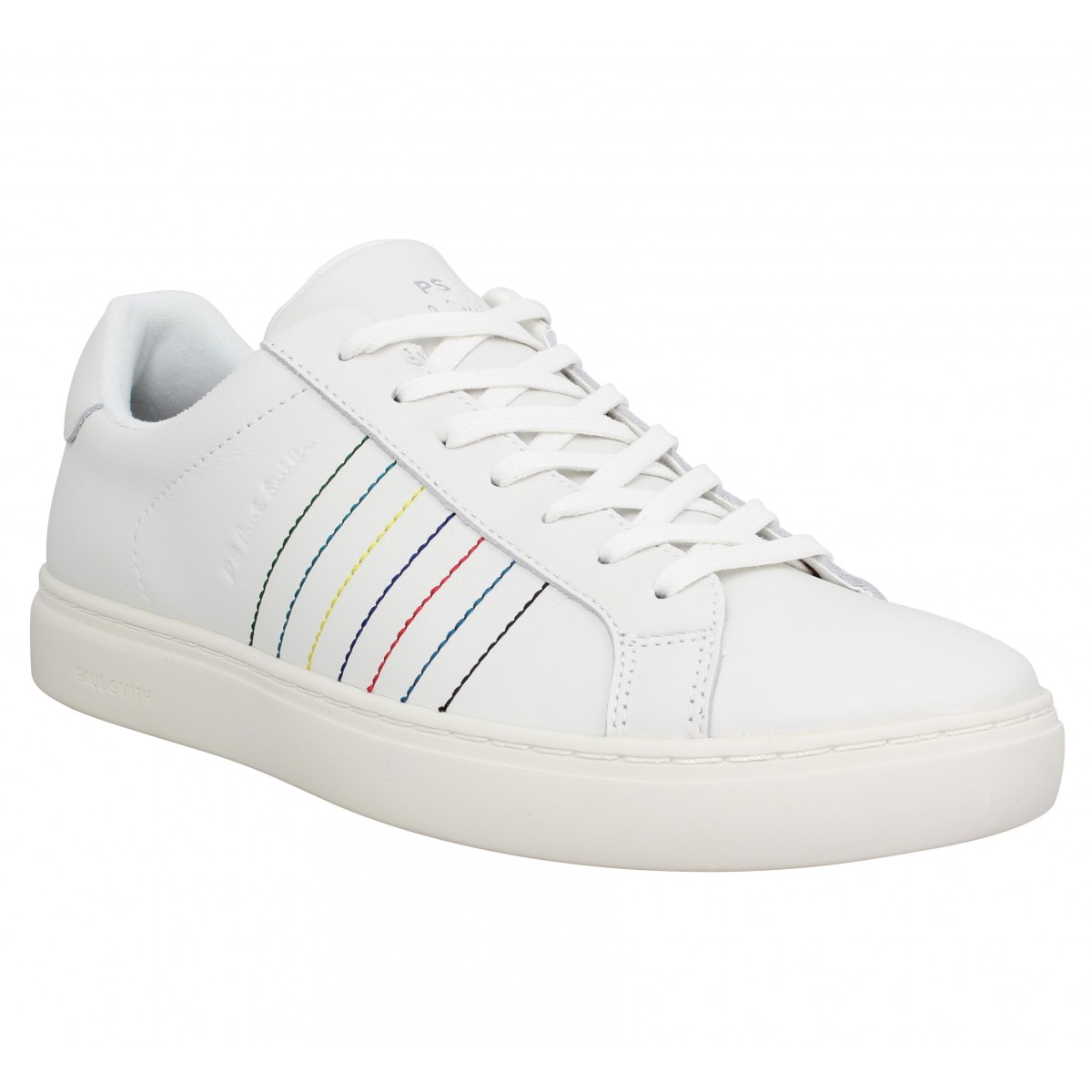 Baskets PAUL SMITH Rex cuir Homme White