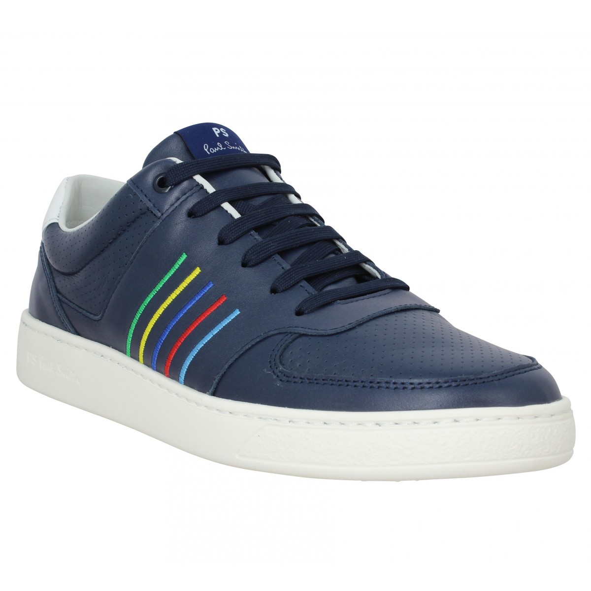 Baskets PAUL SMITH Saturn cuir Homme Marine
