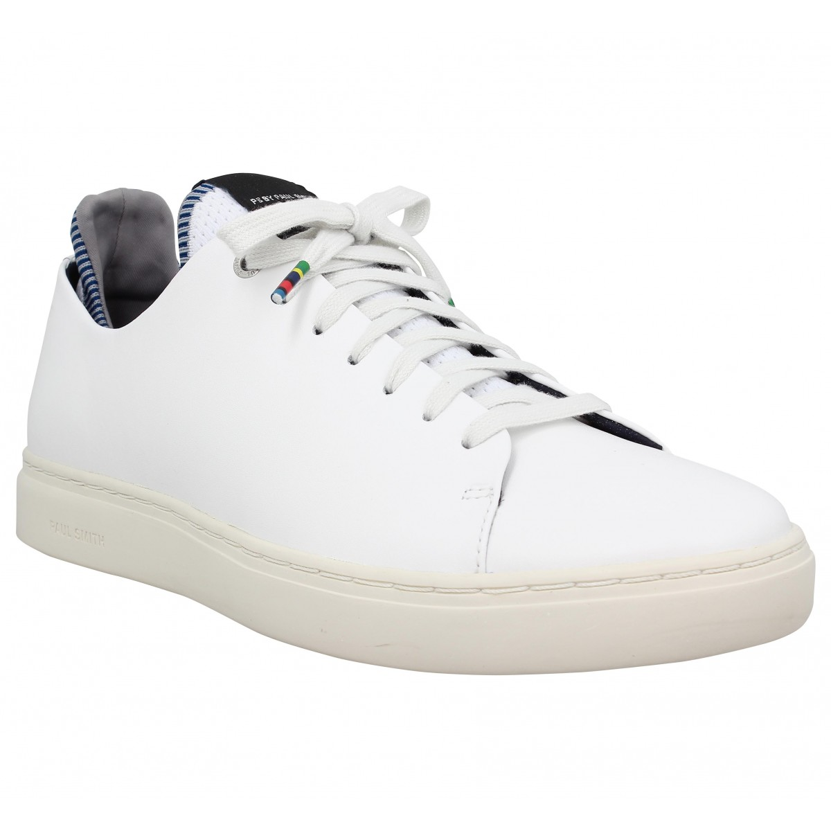 Paul Smith Homme Sonix Cuir -39-blanc