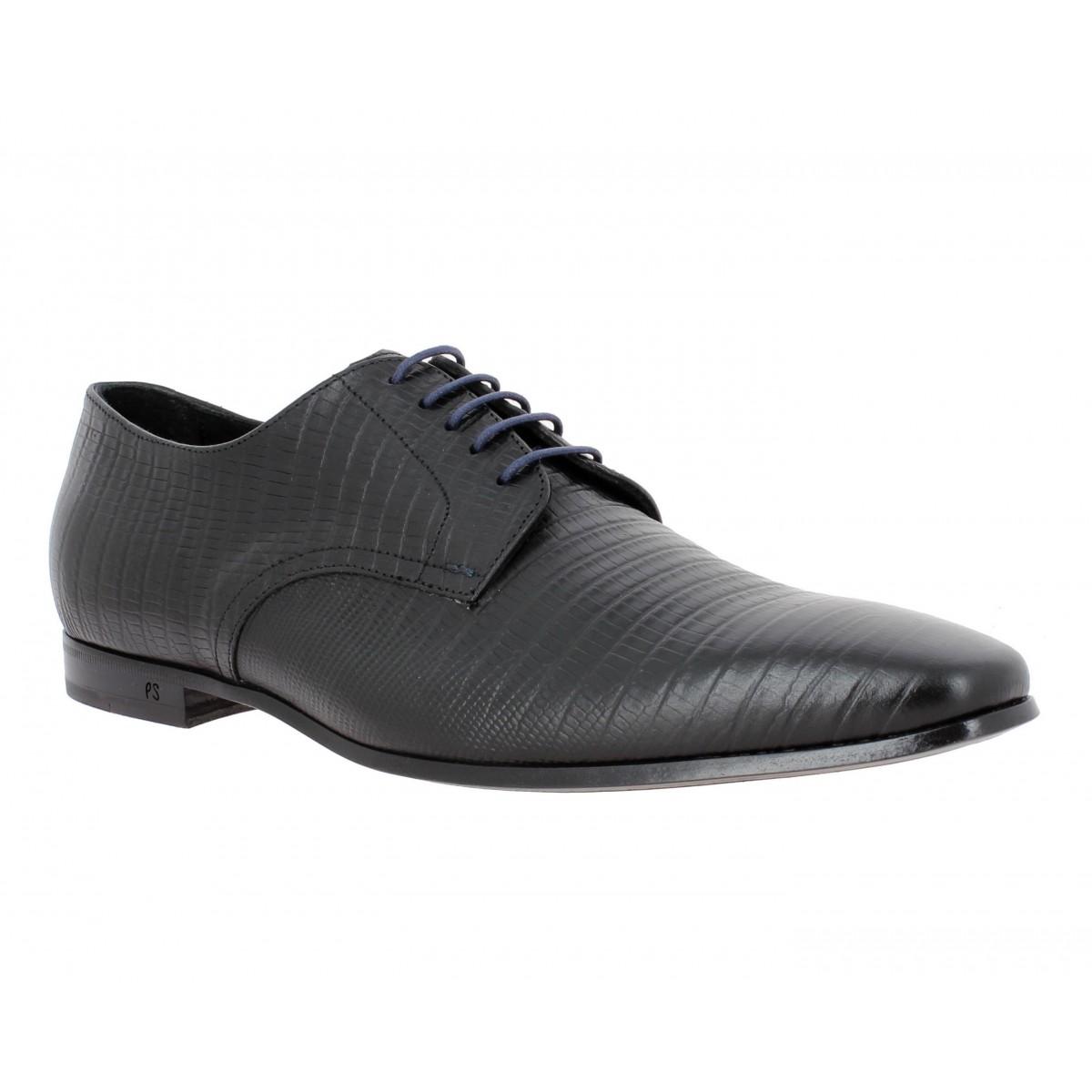 Chaussures à lacets PAUL SMITH Taylor cuir reptile Homme Noir