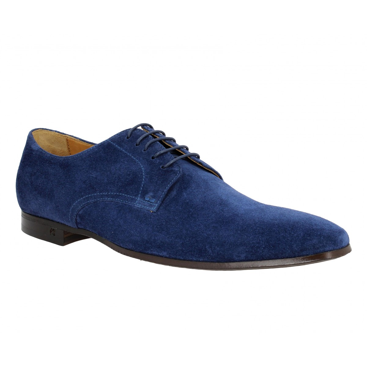 Chaussures à lacets PAUL SMITH Taylor velours Homme Marine