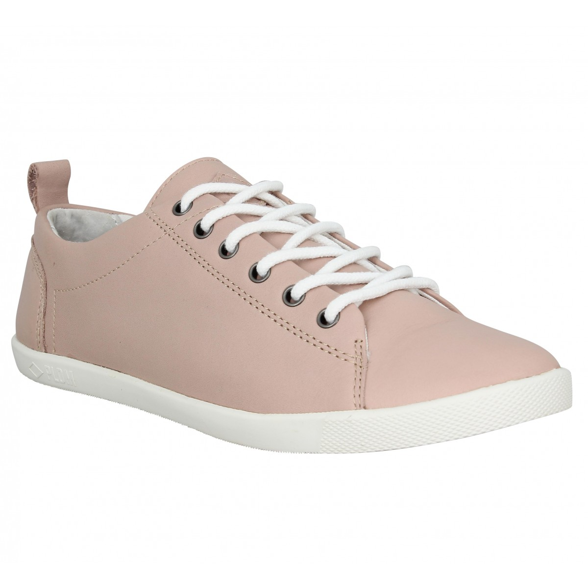 Baskets PLDM by PALLADIUM Bel NCA cuir Femme Rose