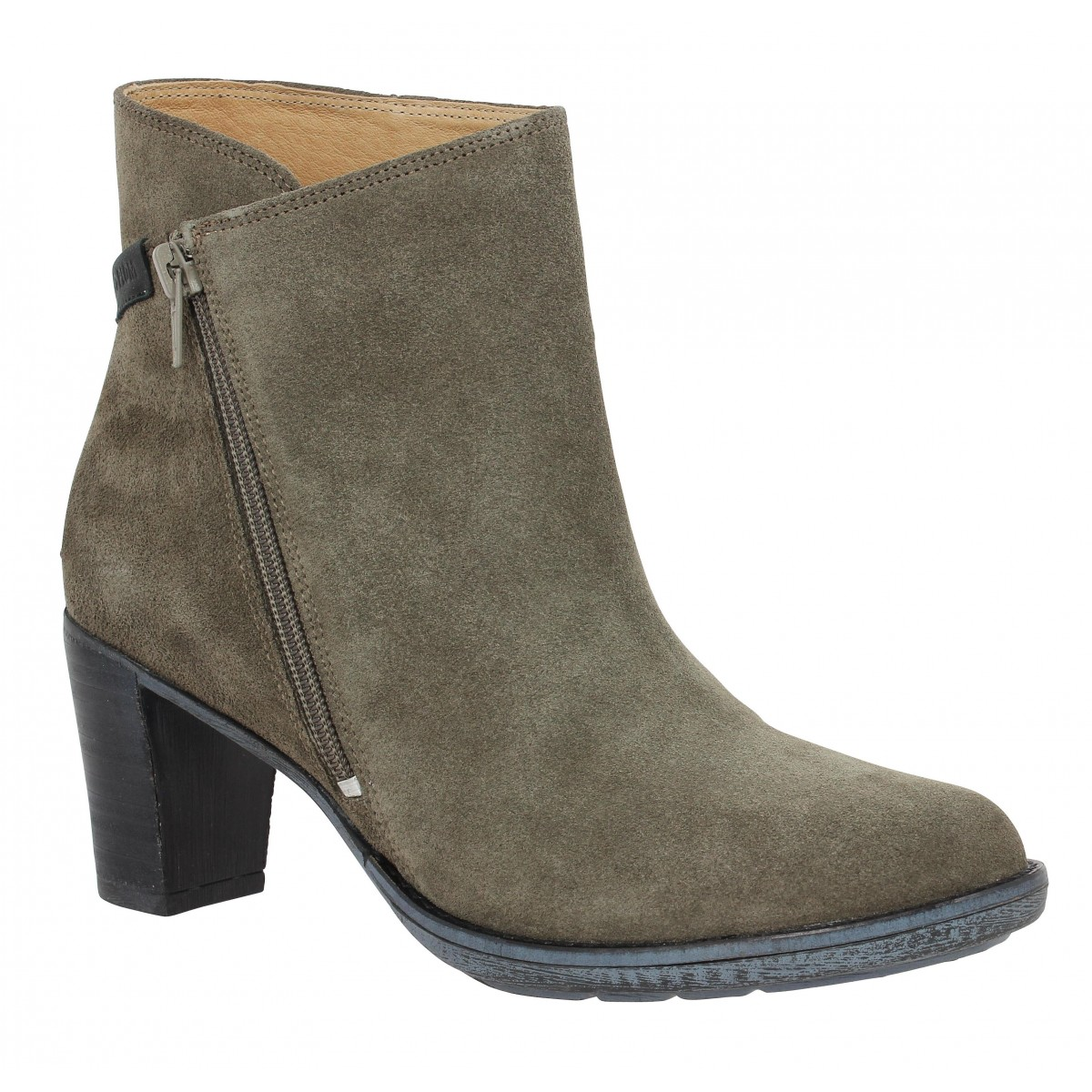 Bottines PLDM by PALLADIUM Siema velours Femme Taupe