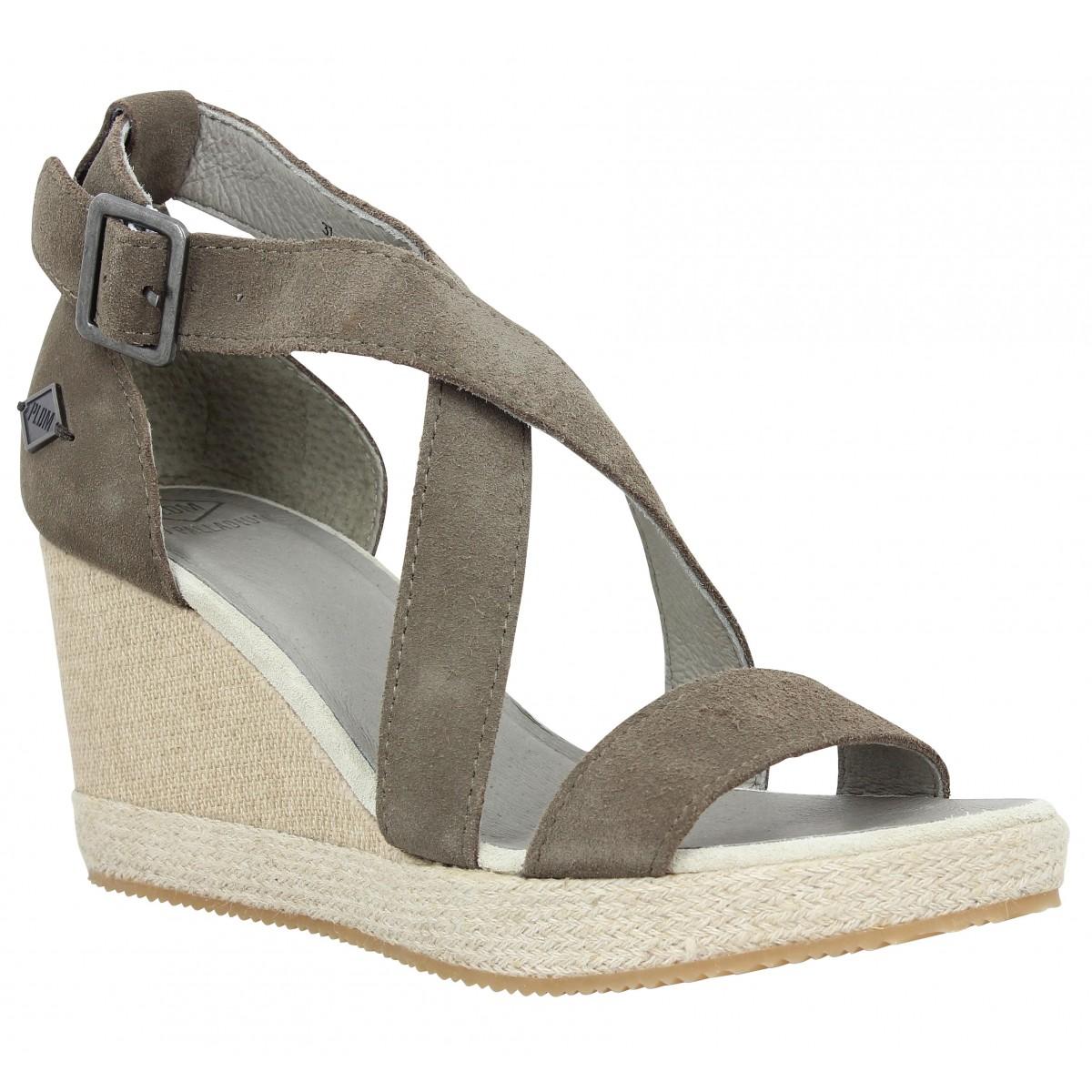 Sandales talons PLDM by PALLADIUM Wellton SUD velours Femme Acacia