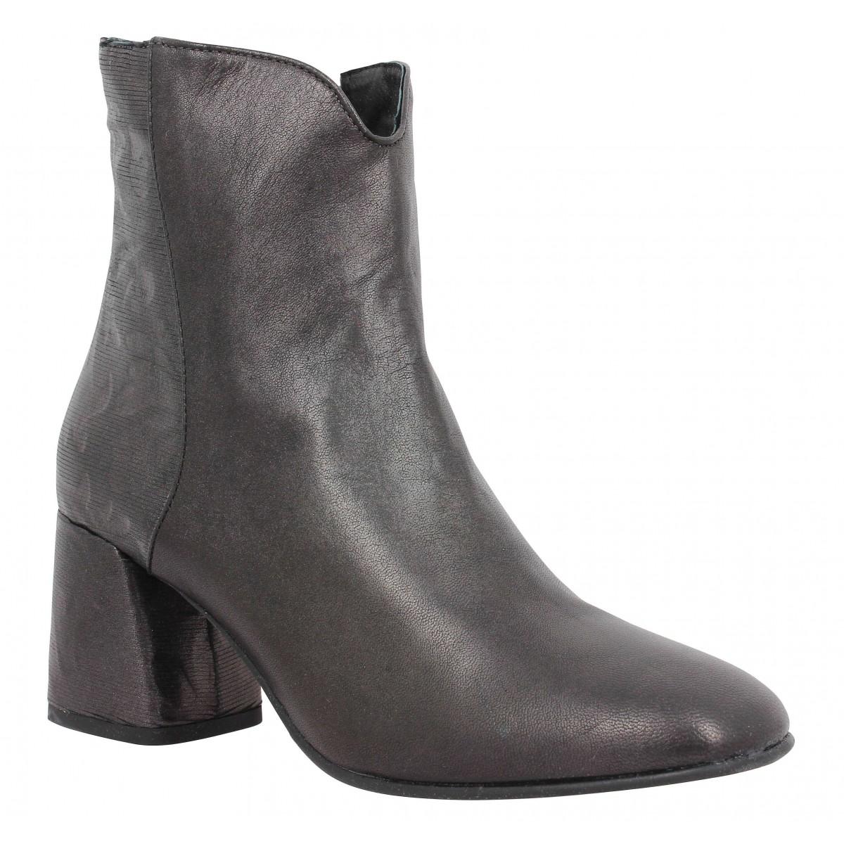 POESIE VENEZIANE 718 cuir Femme-38-Noir