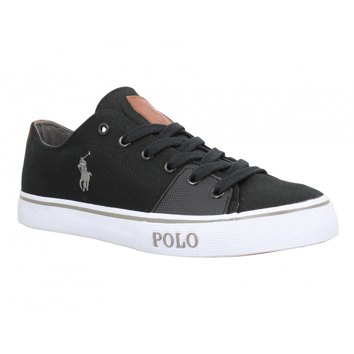 Baskets POLO RALPH LAUREN Cantor Low toile Homme Noir