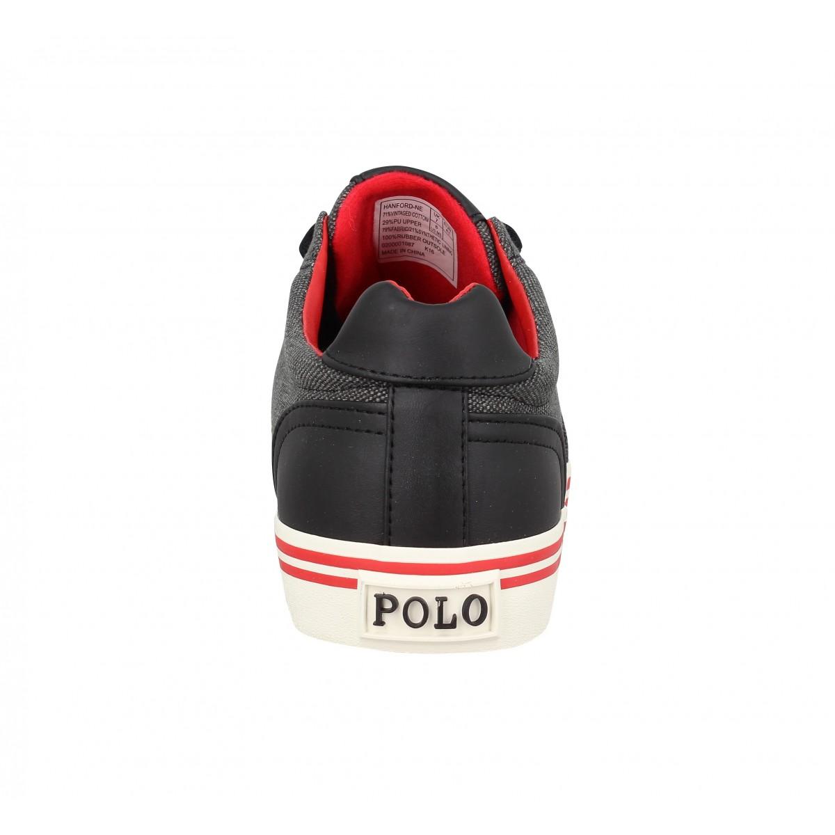 4f6df5d9b063 Polo ralph lauren hanford toile black homme   Fanny chaussures