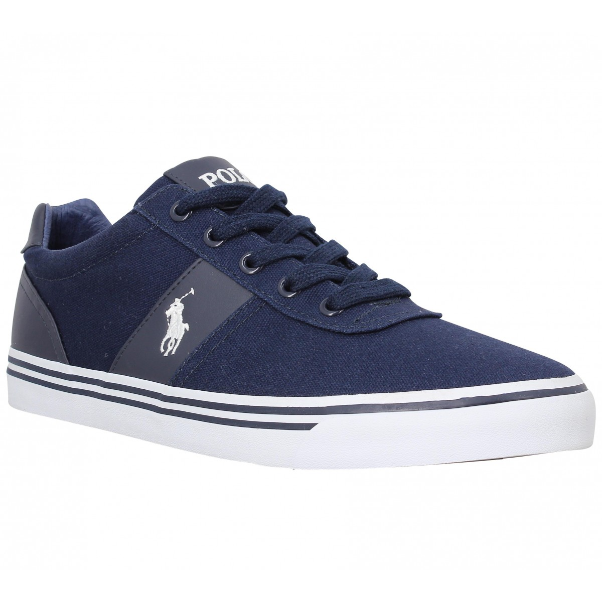 Baskets POLO RALPH LAUREN Hanford toile Navy