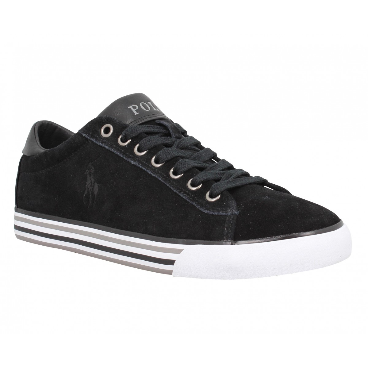 Baskets POLO RALPH LAUREN Harvey velours Homme Noir