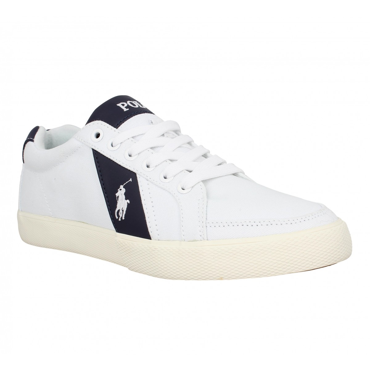Baskets POLO RALPH LAUREN Hugh toile Homme Blanc