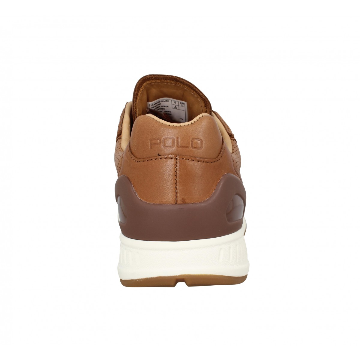 Polo ralph lauren train 100 cuir homme marron homme   Fanny chaussures fdaa78571a92