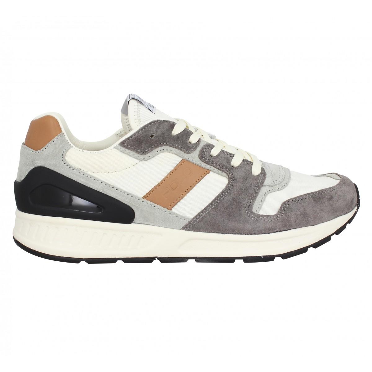 Chaussures Polo ralph lauren train 100 toile homme gris homme ... 060fc44c0dcf
