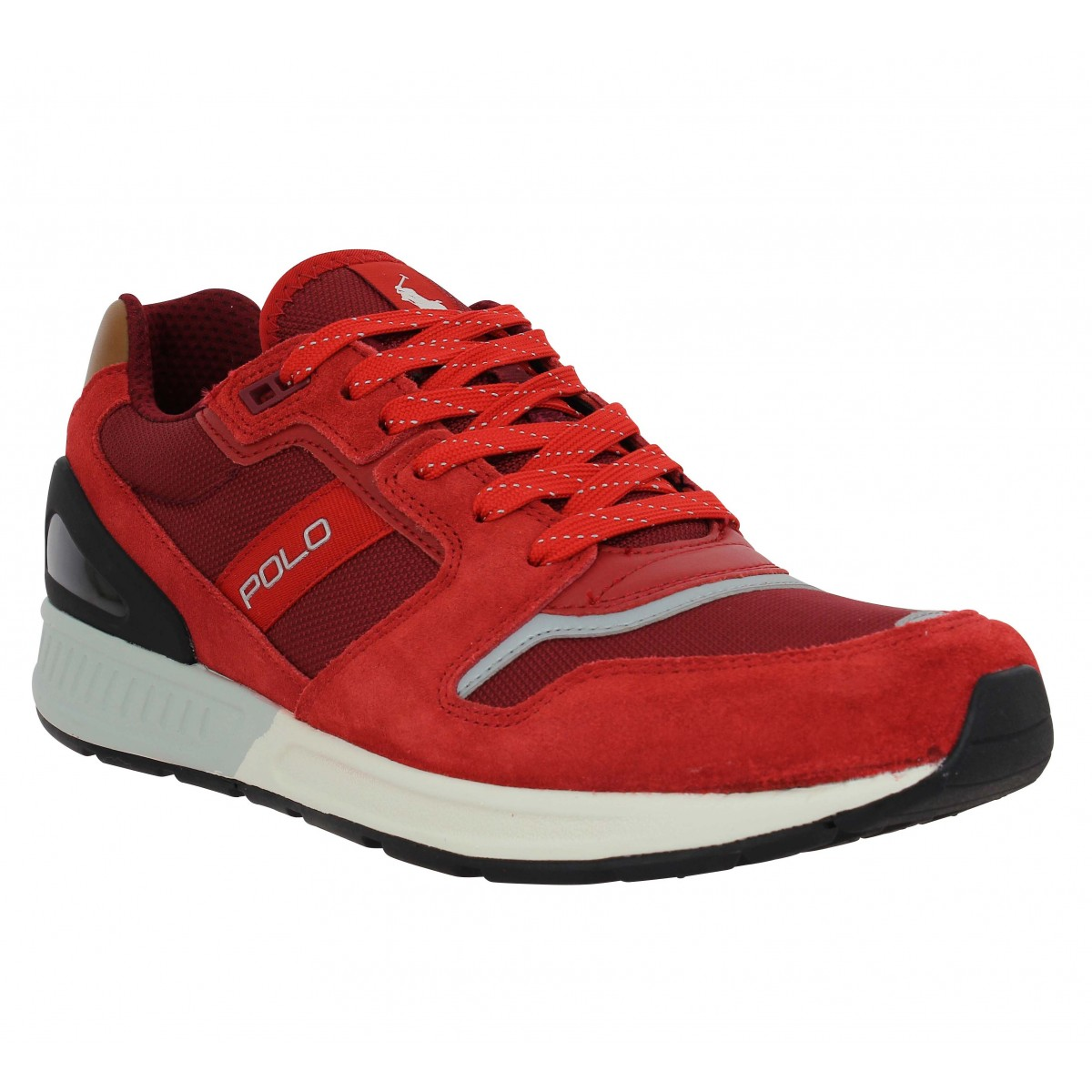 Polo ralph lauren train 100 toile homme rouge homme   Fanny chaussures 104f0f9eab4e