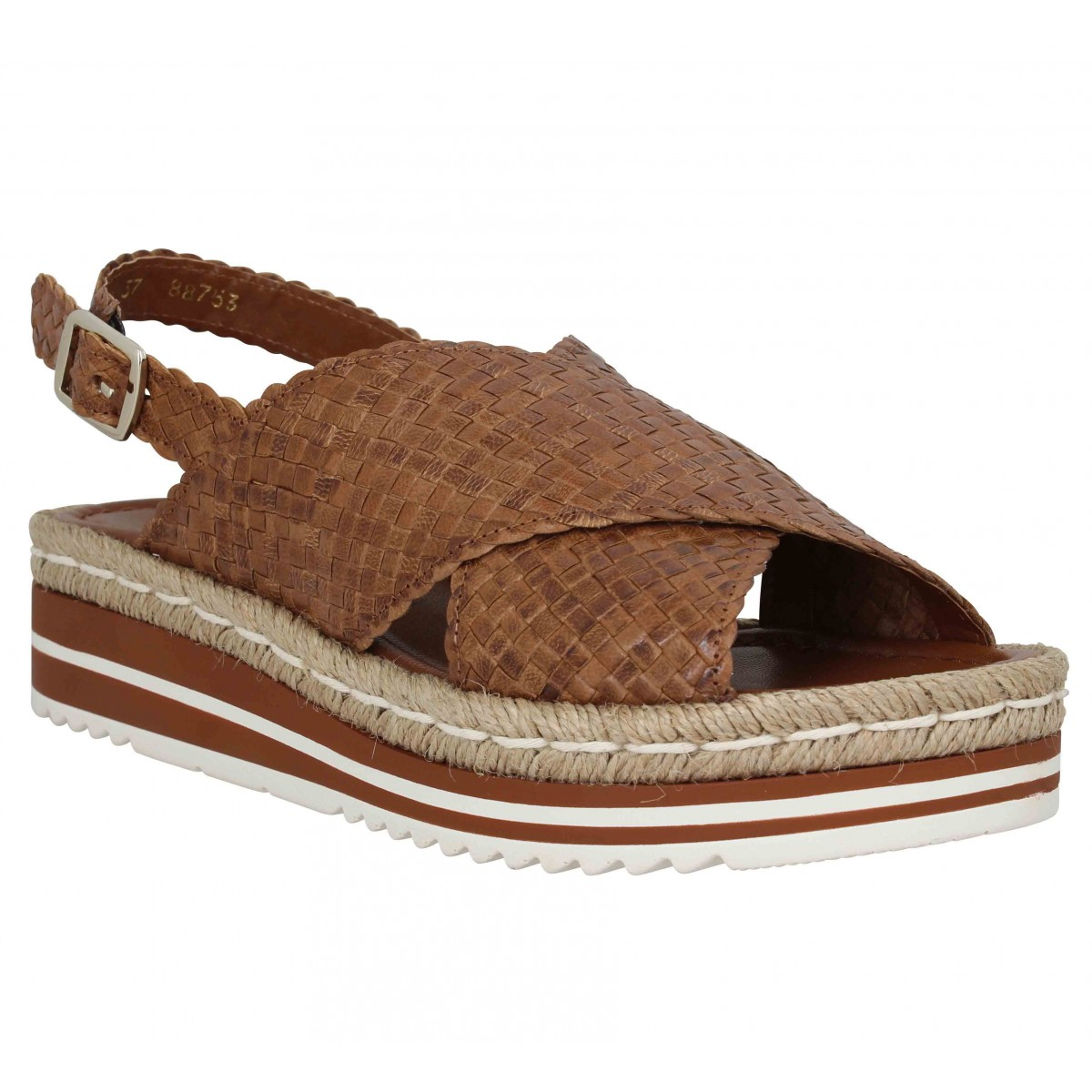 Sandales talons PONS QUINTANA 7665 cuir Femme Marron