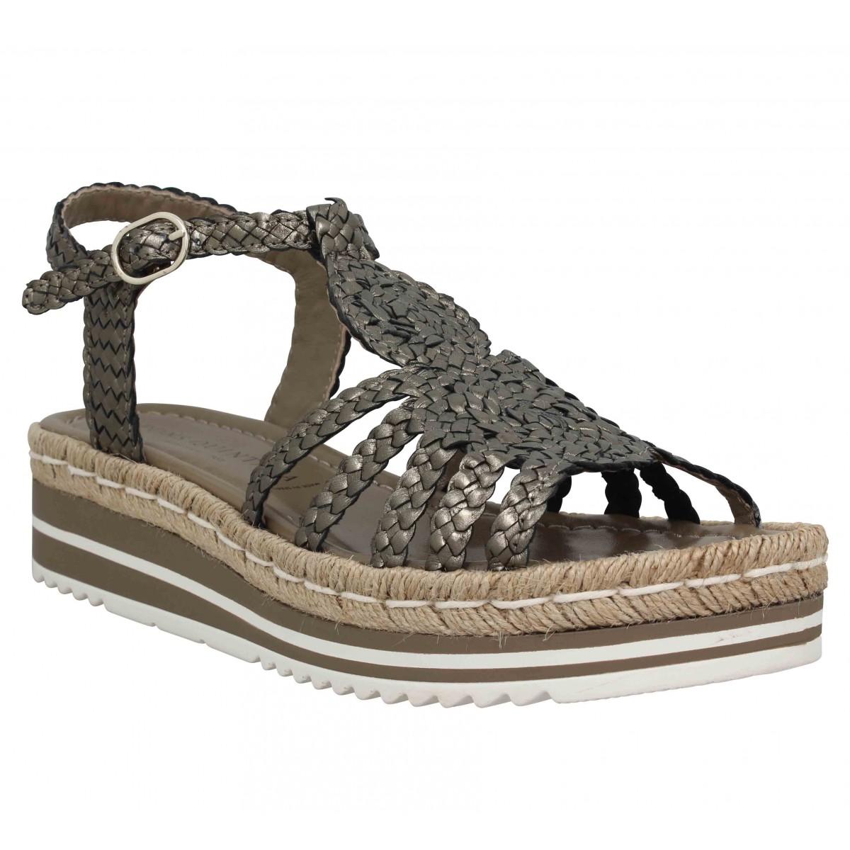 Sandales talons PONS QUINTANA 7667 cuir Femme Metal