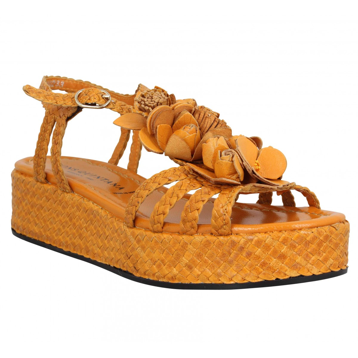 Sandales talons PONS QUINTANA 7702 cuir Femme Ocre