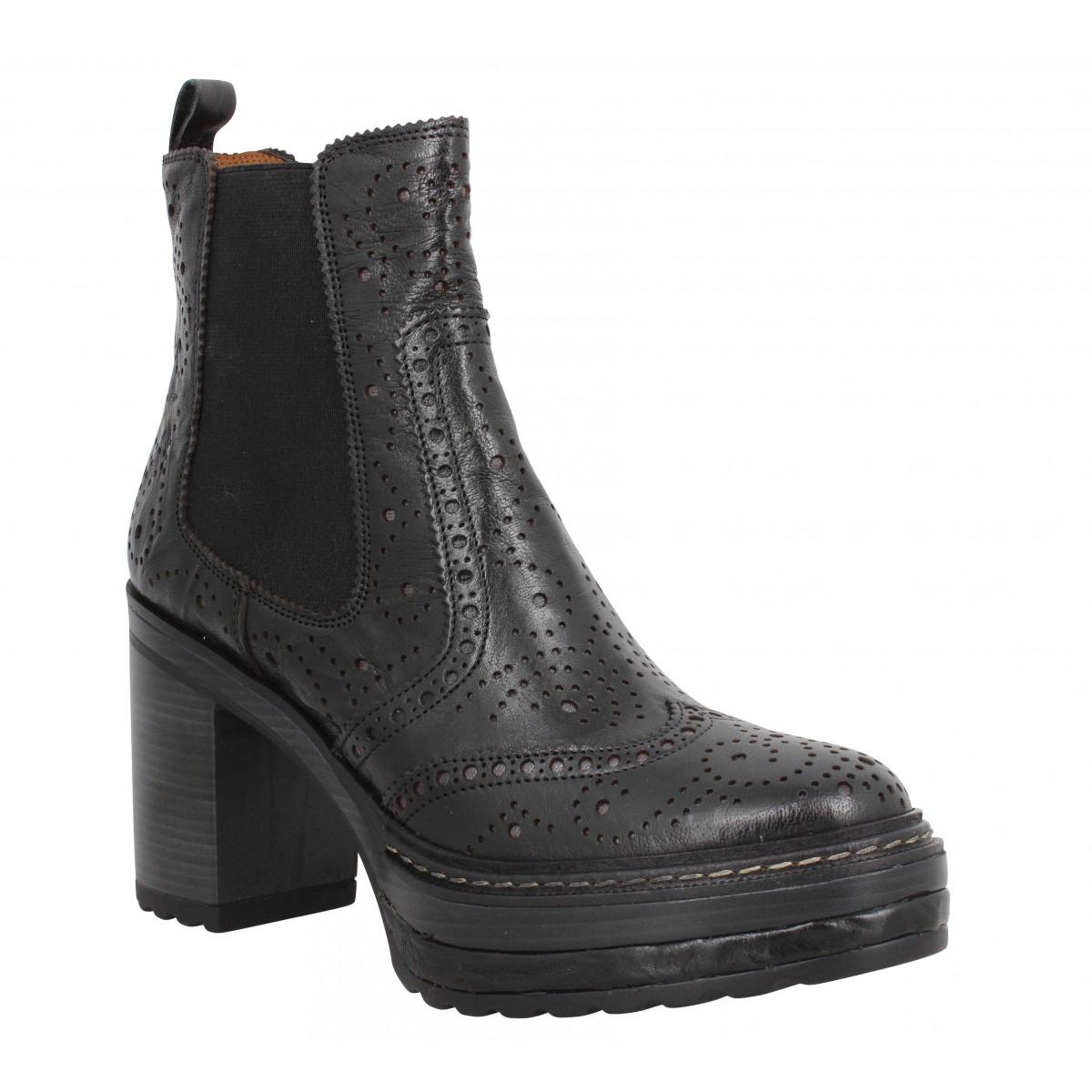 Bottines PONS QUINTANA 8911 cuir Femme Noir
