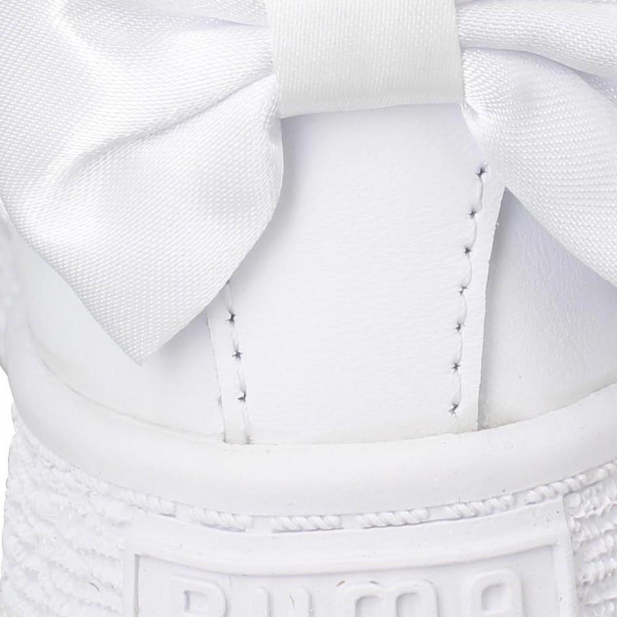 Blanc Basket Puma Enfant Bow Cuir mynON80vw