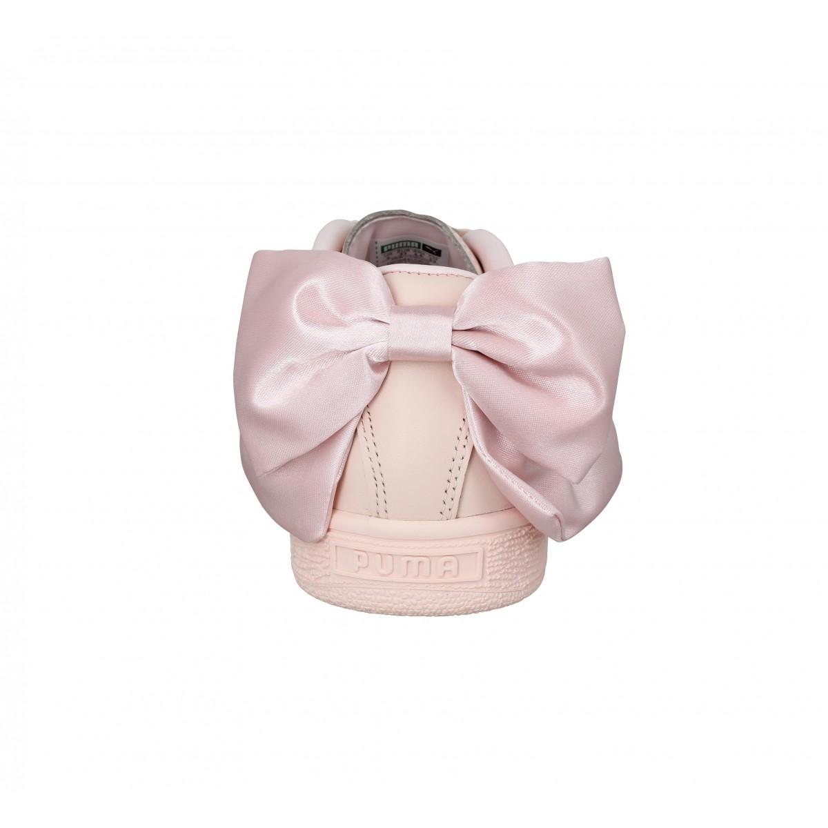 PUMA Basket Bow cuir Femme Rose