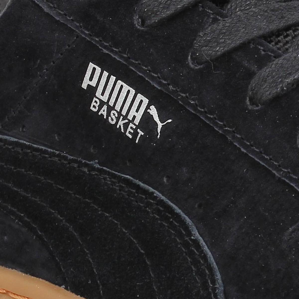 PUMA Basket Classic Weatherproof velours Homme Noir