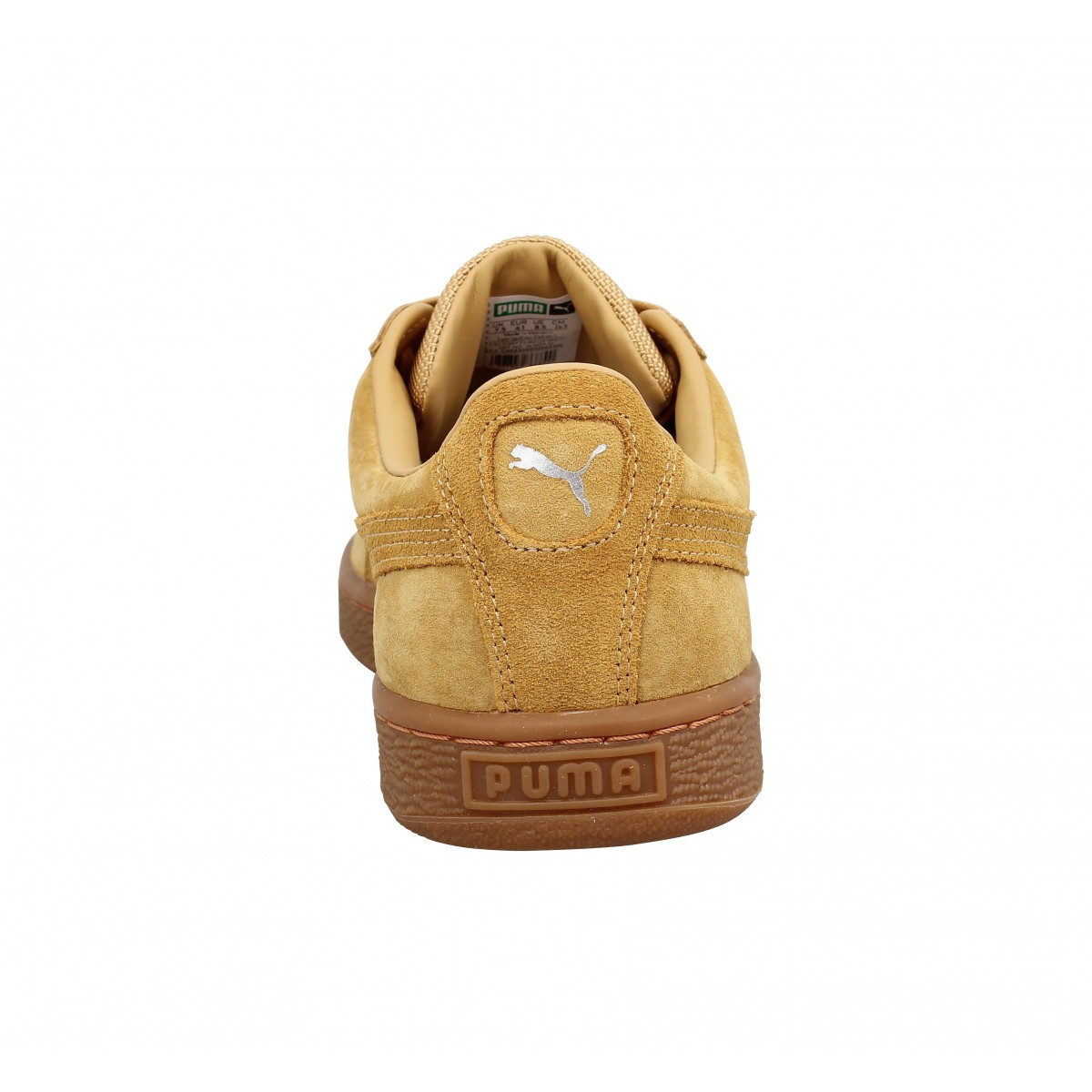 PUMA Basket Classic Weatherproof velours Homme Ocre