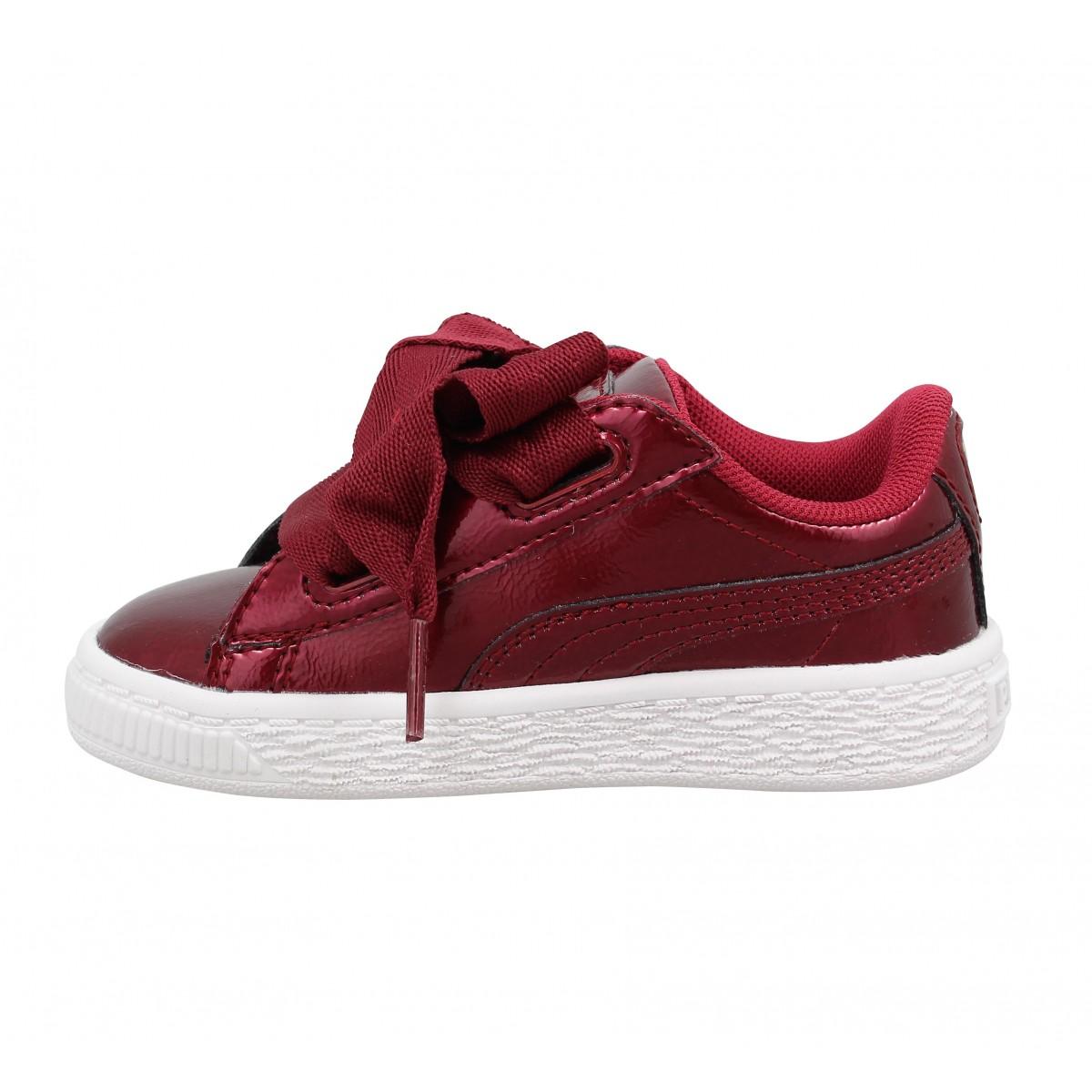 puma basket heart glam vernis enfant rouge enfants fanny chaussures. Black Bedroom Furniture Sets. Home Design Ideas