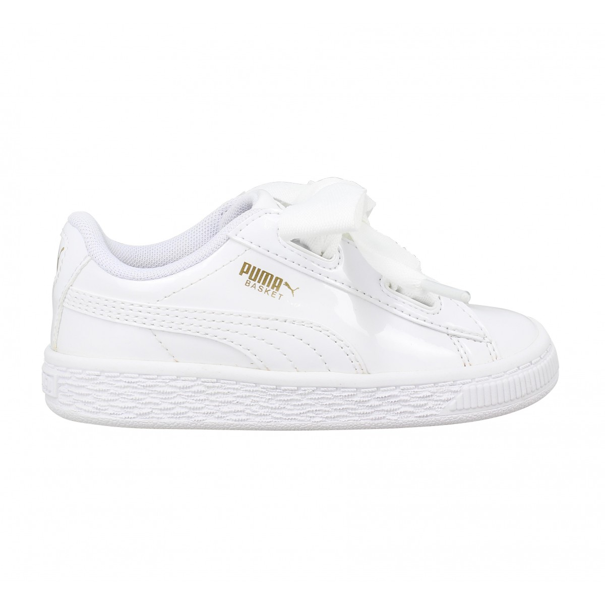 soldes puma basket heart patent enfant noir enfants fanny chaussures. Black Bedroom Furniture Sets. Home Design Ideas