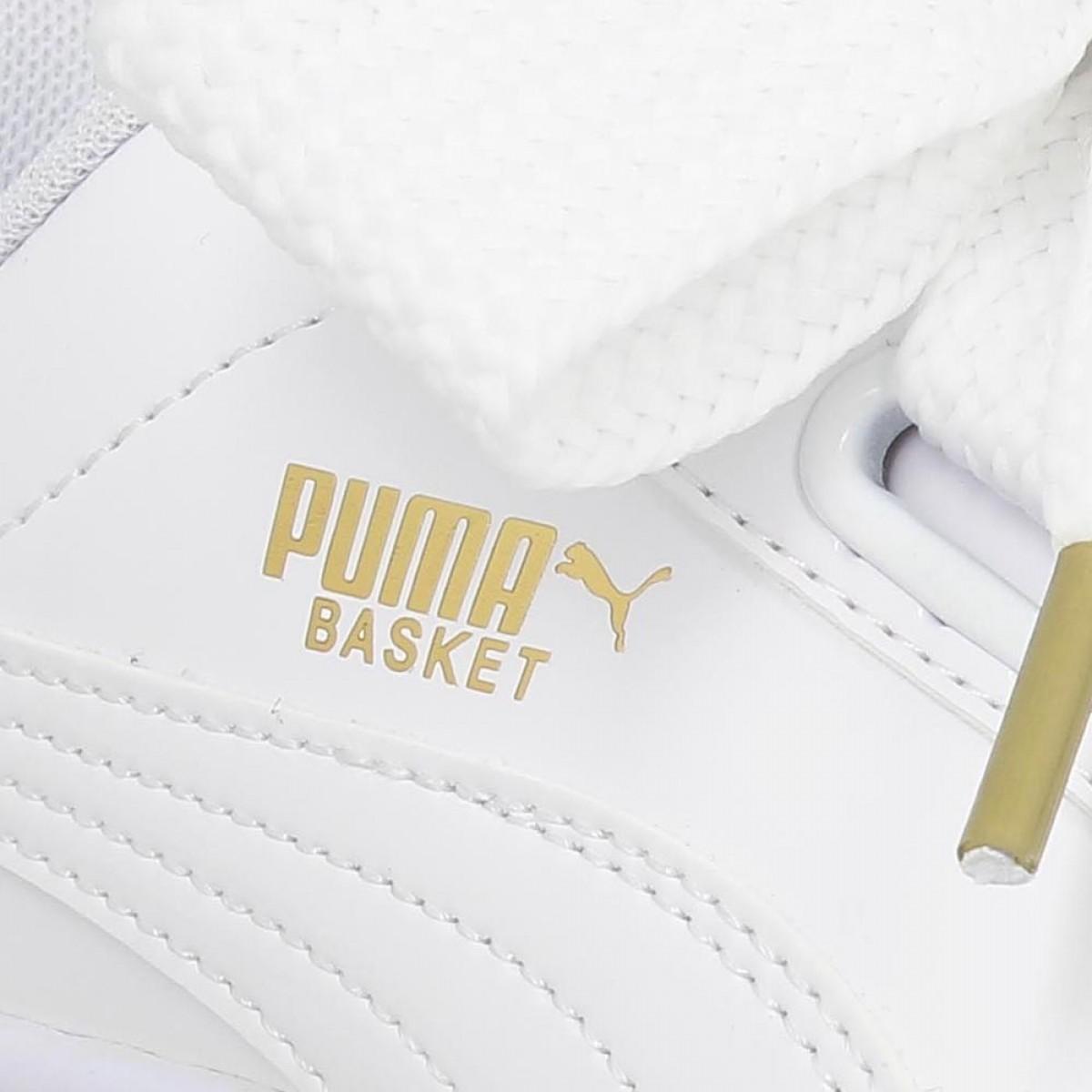 Puma Basket Heart Blanc