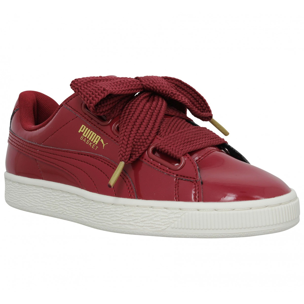 puma basket heart patent femme red femme fanny chaussures. Black Bedroom Furniture Sets. Home Design Ideas