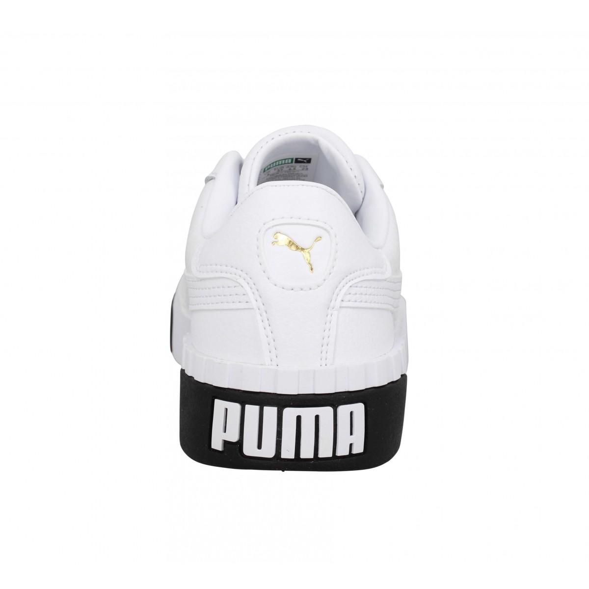 puma blanche cuir femme