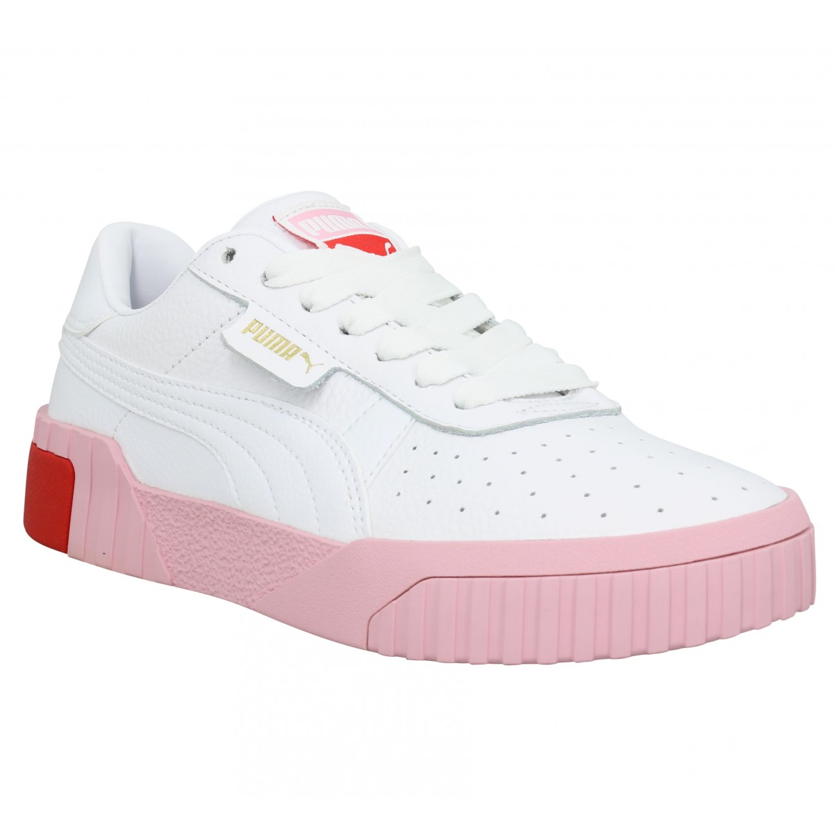 france puma platform sneakers basses femmes rose blanche