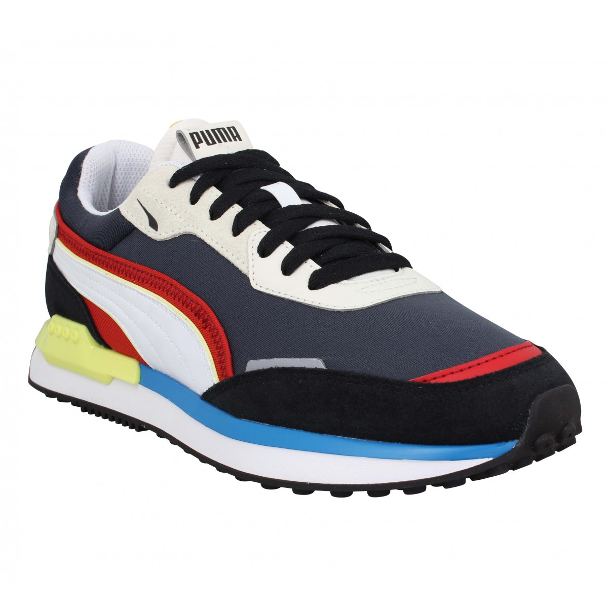 Puma Homme City Rider Velours Toile...
