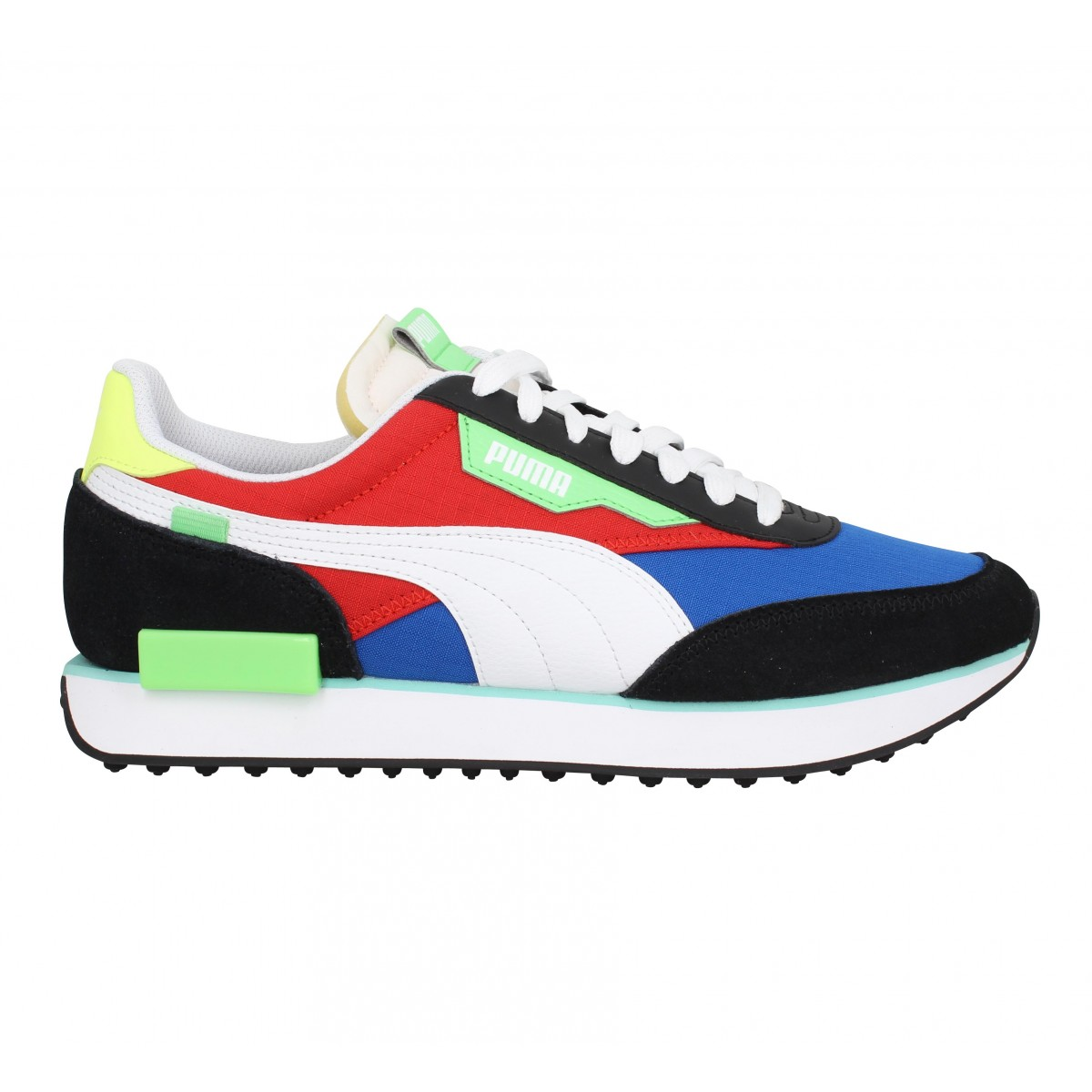 PUMA Future Rider Play On velours toile Homme Bleu Rouge