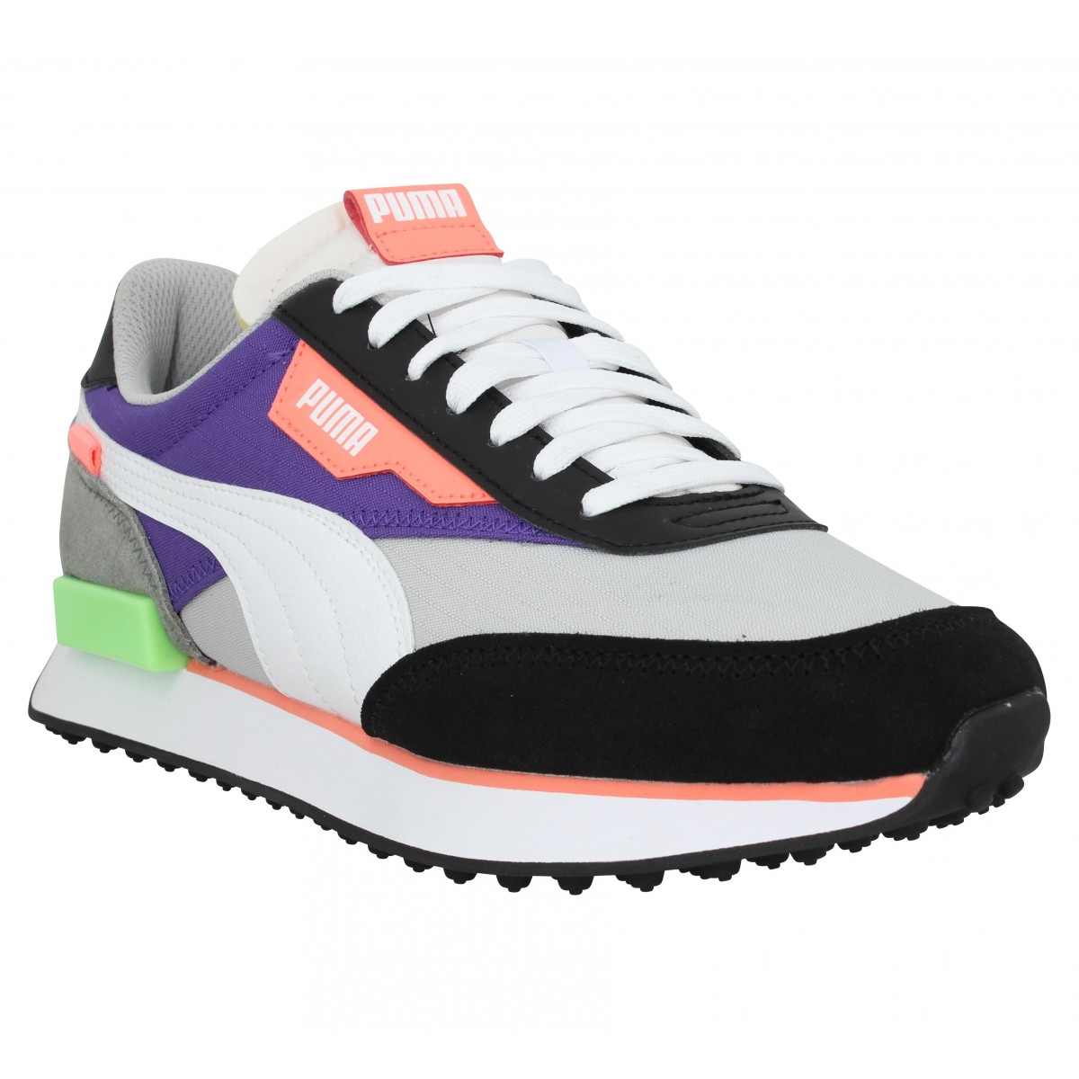 Baskets PUMA Future Rider Play On velours toile Homme Gris Violet