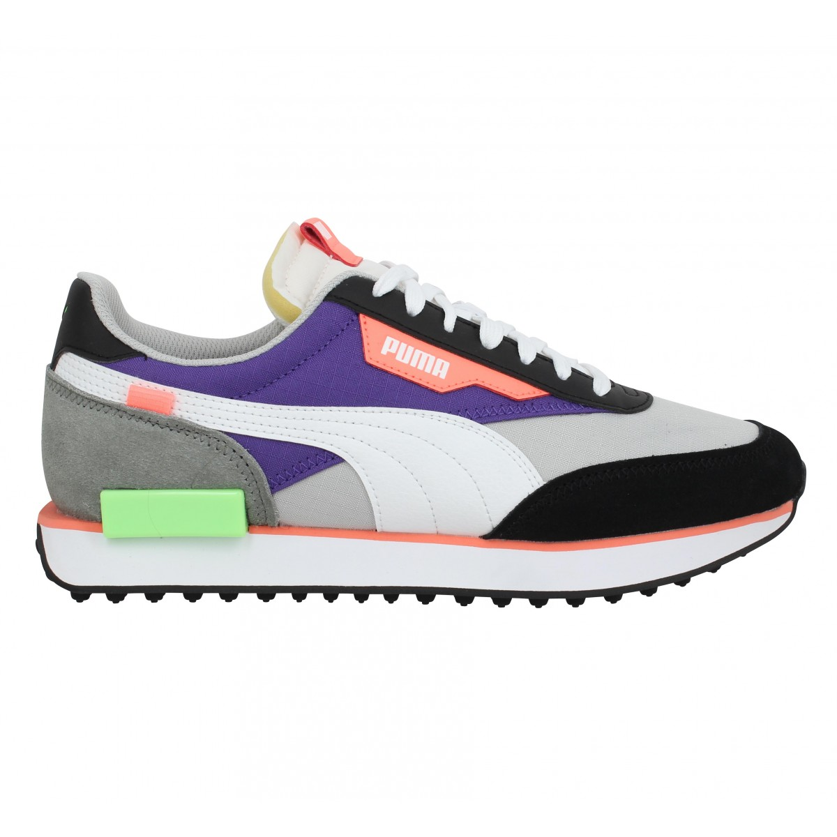 PUMA Future Rider Play On velours toile Homme Gris Violet